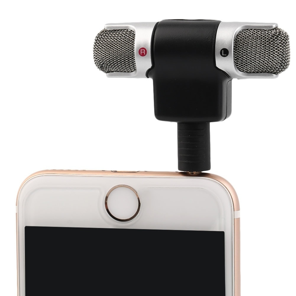 1PCS Mini 3,5mm Jack Mikrofon Stereo Mic Für Aufnahme Handy Studio Interview Mikrofon