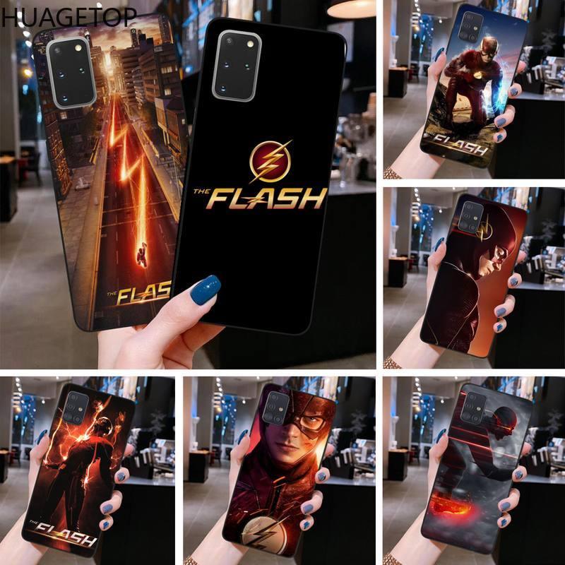 Super-herói o flash caso de telefone para samsung s20 plus ultra s6 s7 borda s8 s9 mais s10 5g lite 2020