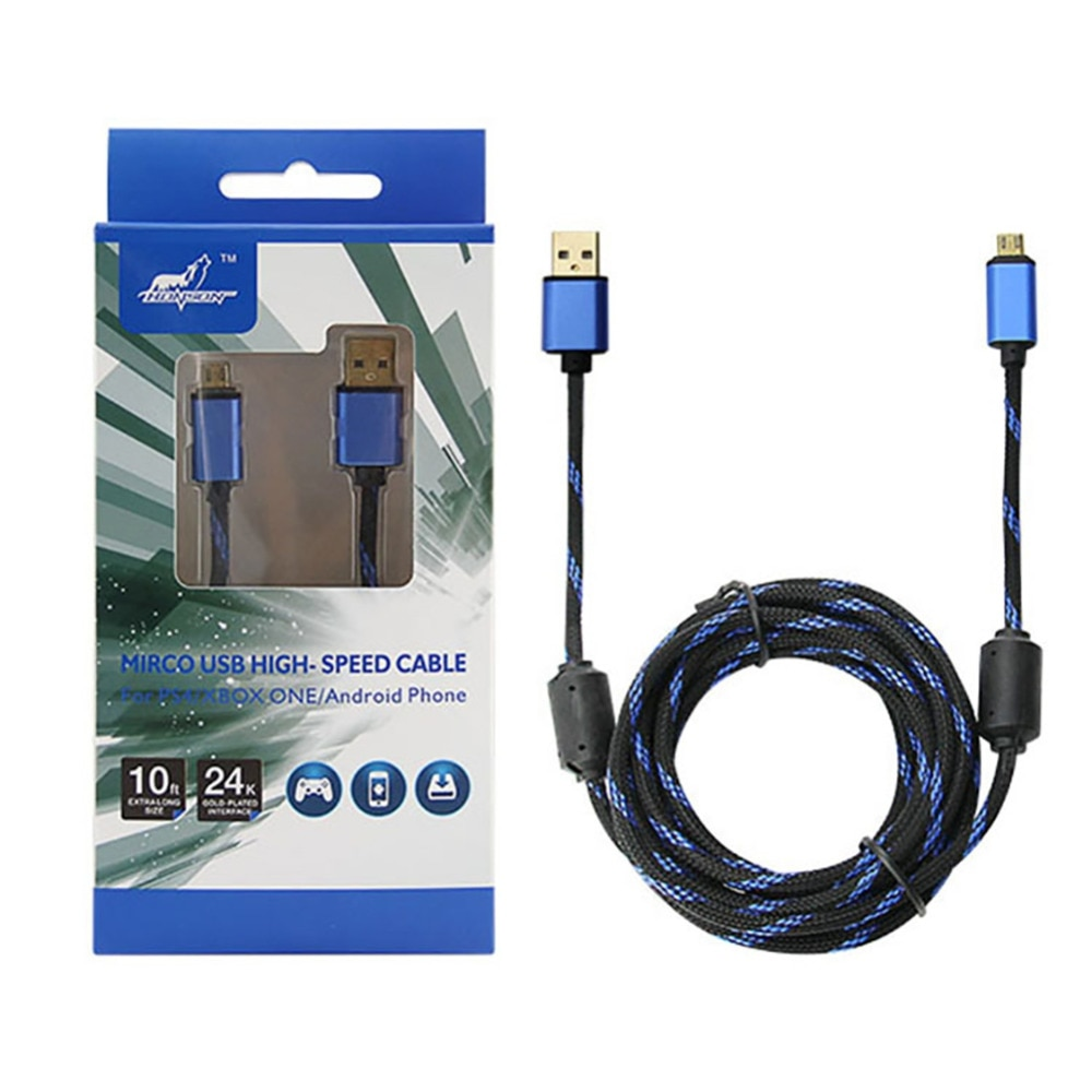 Cable de carga USB de 3m de largo para mando de PlayStation...