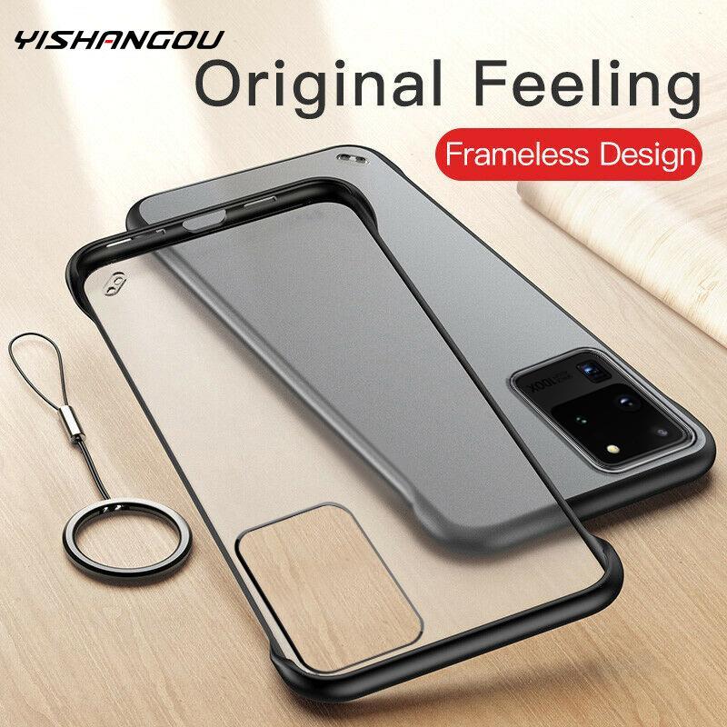 Ultra Thin Frameless Clear Hard Ring Case Cover For Samsung Galaxy Note 10 8 9 S8 S9 S10 Plus S10E A10 A30 A50 A60 A70 A51 A71