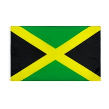 Flaglink drapeau jamaïcain 90*150cm   Drapeau jamaïcain de jamaïque, 3x5fts