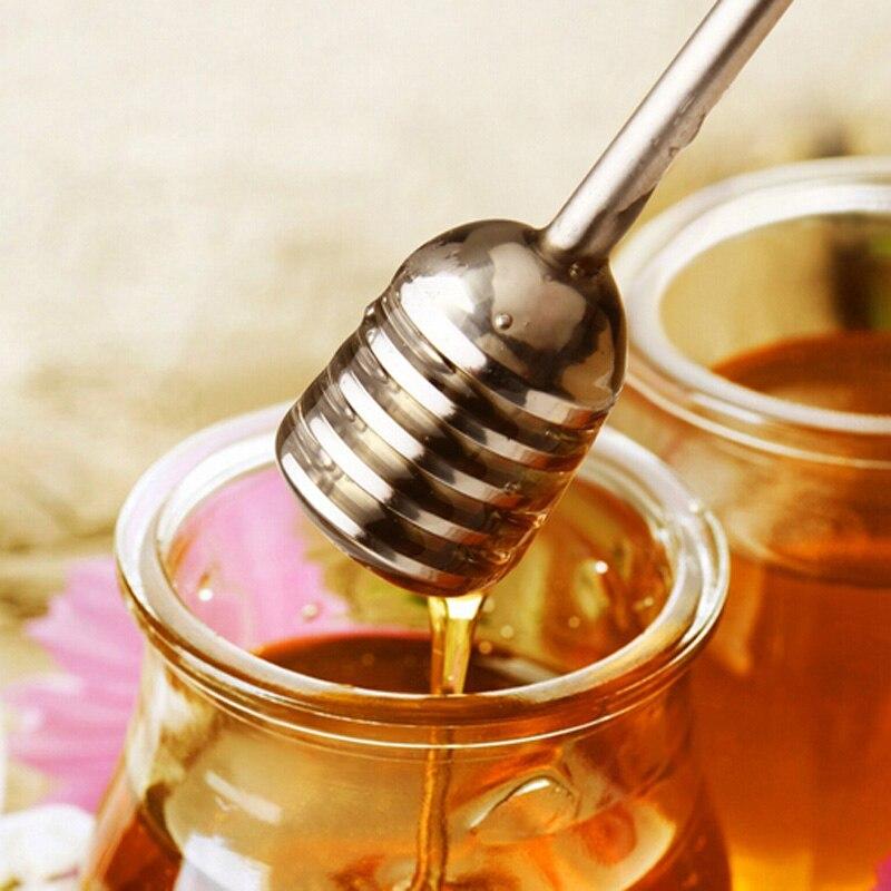 高品質木製スティック撹拌棒スプーンディップサーバーdrizzler長針木製ミニ蜂蜂蜜ひしゃくマドラー攪拌機
