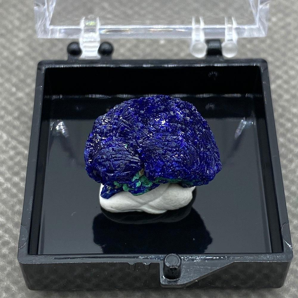 ¡Grande! Natural azurita mineral cristal espécime da provincia de anhui china Caja...