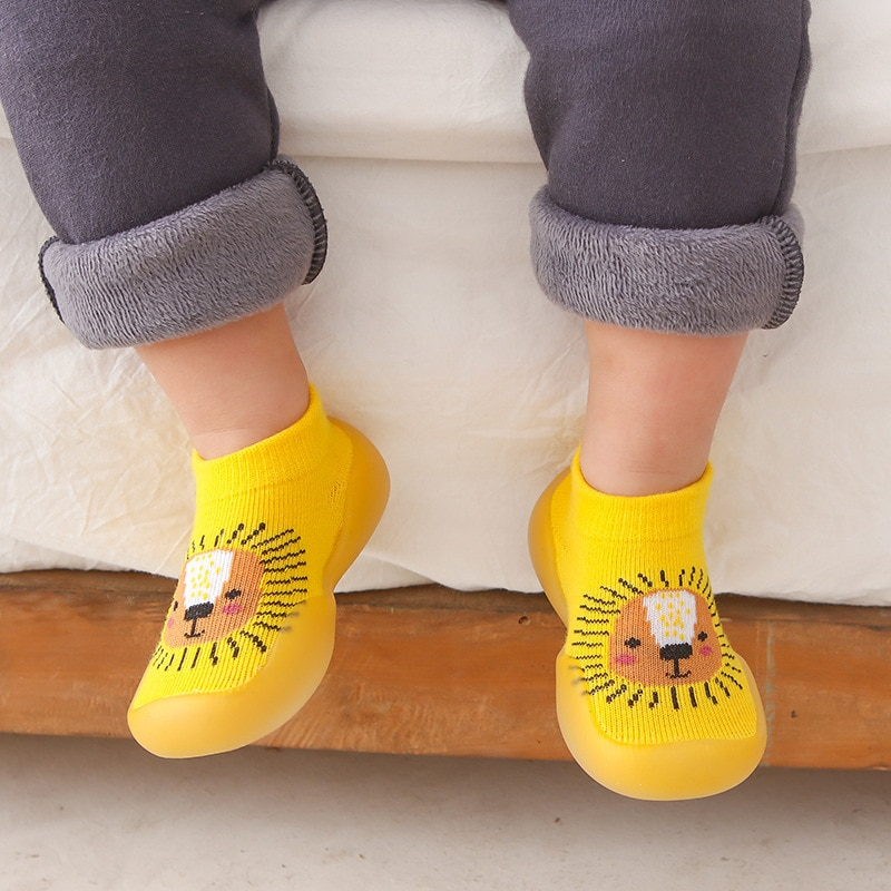 Unisex Baby Shoes First Shoes Toddler First Walkers Boy Soft Sole Rubber Outdoor Baby Shoes Cute Ani