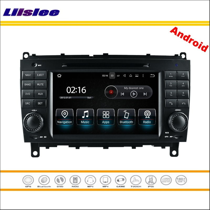 Liislee Multimedia Android para Mercedes-Benz Clase C W203 / CLK W209 2004 ~ 2007 Radio estéreo de CD, DVD Player GPS sistema de navegación