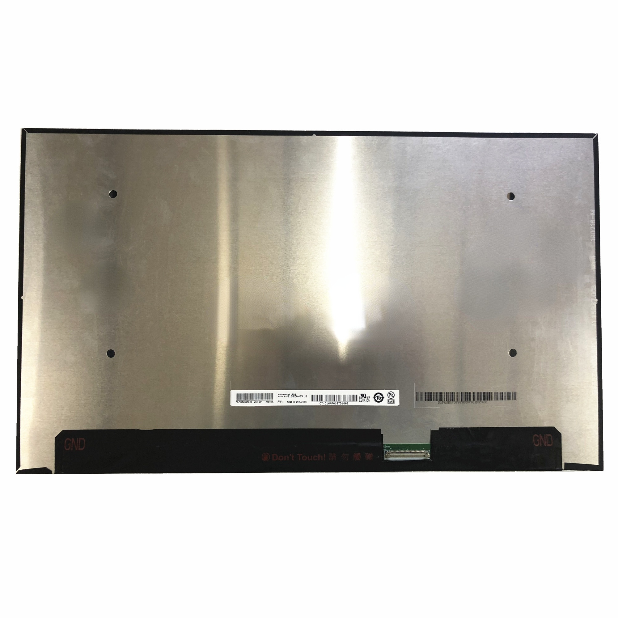 B156ZAN03.6 15.6'' 4K Laptop LCD Screen Panel 3840*2160 UHD EDP 40 PINS 100% sRGB