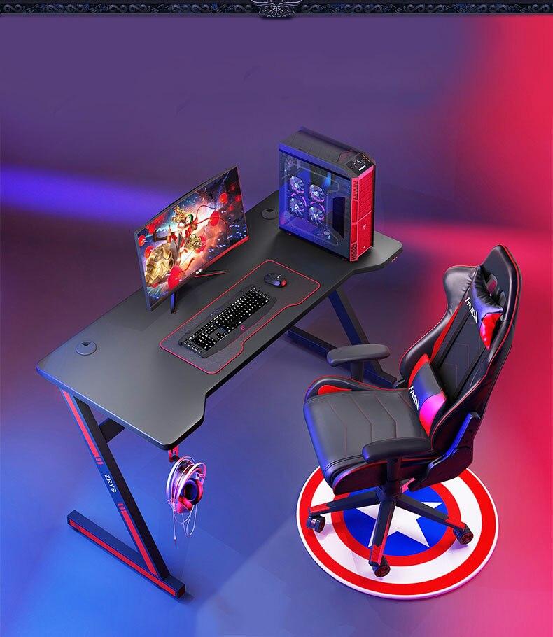 Черный игровой настольный компьютер, настольные игры, домашний офисный живой стол светодиодный светильник кой (не включая стул, компьютер)