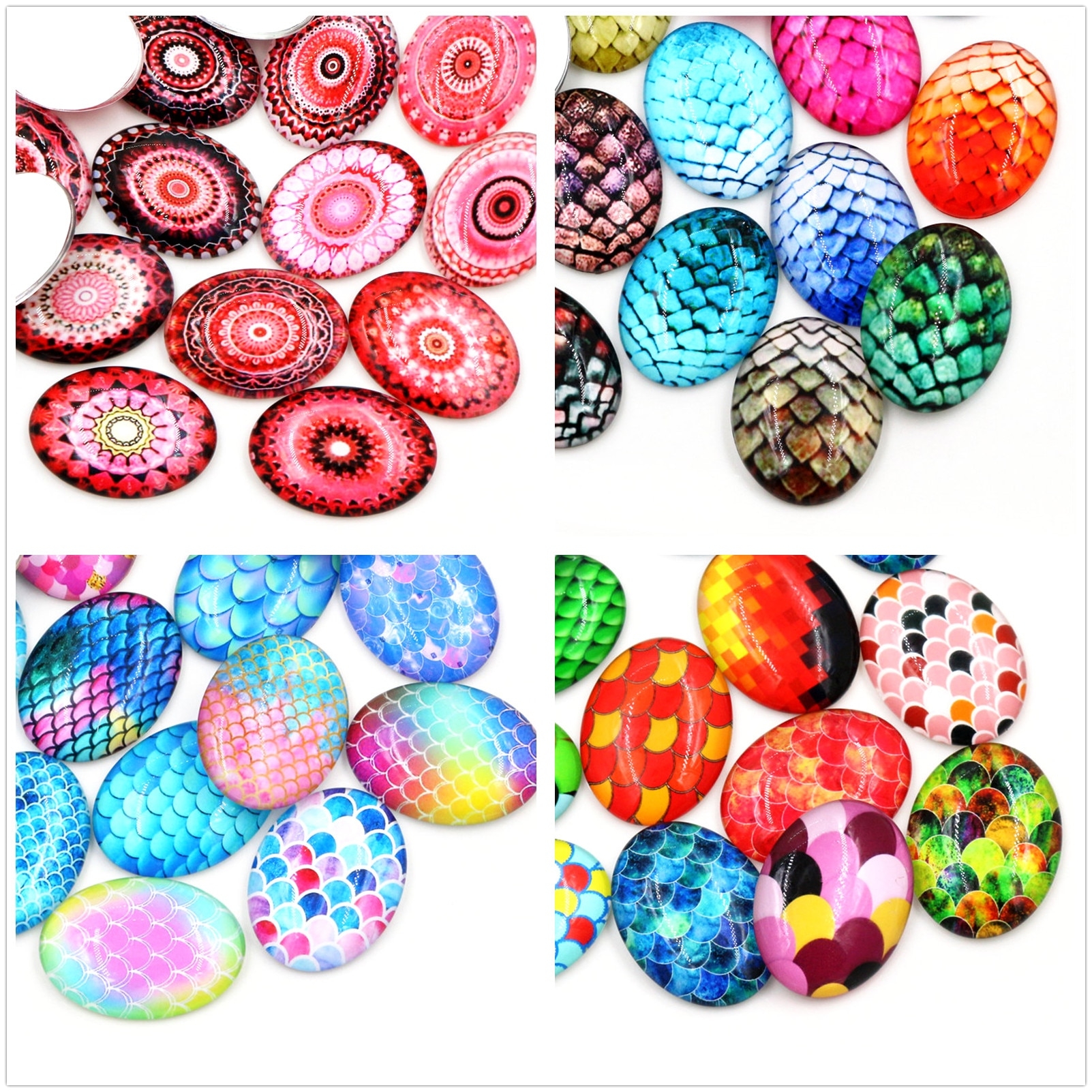 18x25mm 30x40mm New Fashion Color Classic Handmade Photo Glass Cabochons Pattern Domed Jewelry Accessories Supplies 2020 hot sale new fashion 5pcs lot 25mm handmade photo glass cabochons