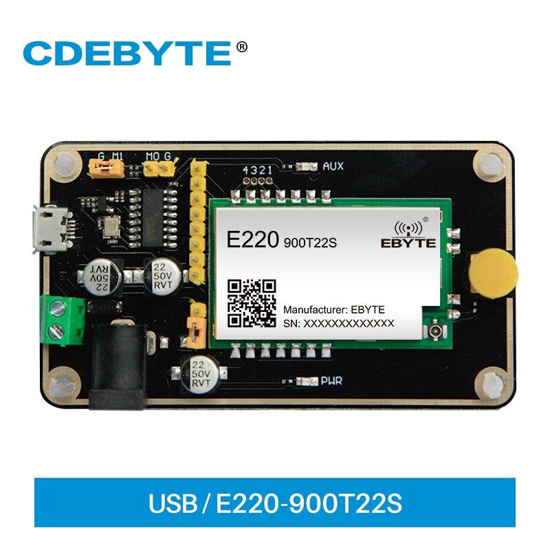 LoRa Тесты доска LLCC68 модуль 868 МГц 915 Тесты комплект USB Интерфейс и телевизионные антенны UART Беспроводной модуль CDEBYTE E220-900TBL-01