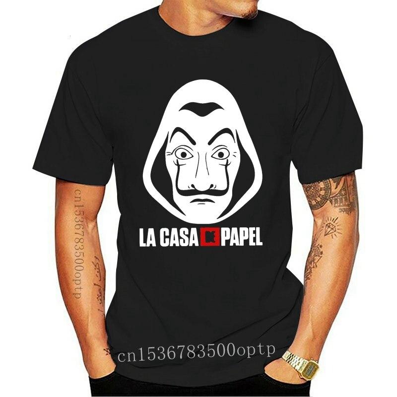 La casa de papel t camisa dinheiro assalto espanhol série tv preto unisex t s-xxl m xl 2xl 25xl camiseta
