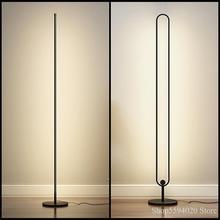 Minimaliste nordique LAMPADAIRE LED Chambre Salon Atmosphère Lampe Verticale Télécommande Gradation Lampadaire Lumière de Support