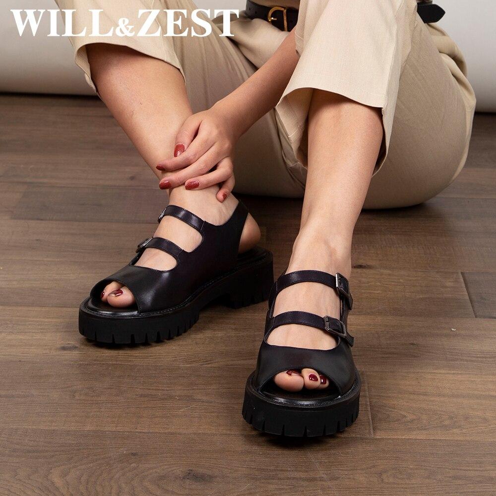 سوف و تلذذ منصة النساء الصنادل Harajuku لوليتا أسافين الأحذية موضة المفتوحة اللمحة تو مكتنزة لوكس المصارع الجلود الإناث الكعوب