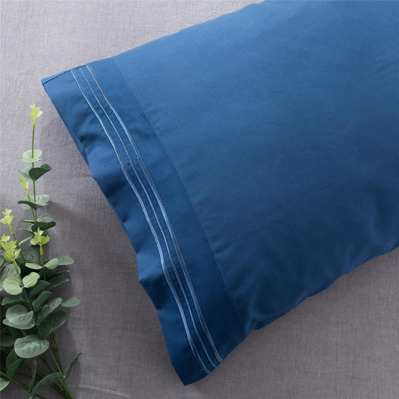 2 pçs/set capa Simples e elegante Bordado fronha fronha 100% Poliéster travesseiro sono caso pilow para home hotel jogo de cama