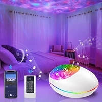 star projector night light ocean wave starry projector light with bluetooth music speaker remote for kids bedroom home theatre