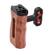 Универсальная клетка для камеры с левой/правой боковой ручкой, деревянная ручка с 1/4 винтовым отверстием, крепление для холодной обуви для камеры