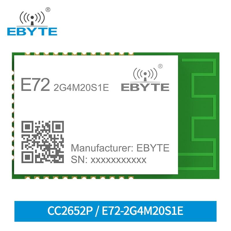 AliExpress - CC2652P ZigBee Bluetooth 2.4Ghz 20dBm Module Wireless Module SoC EBYTE E72-2G4M20S1E Transceiver and Receiver PCB/IPX Antenna