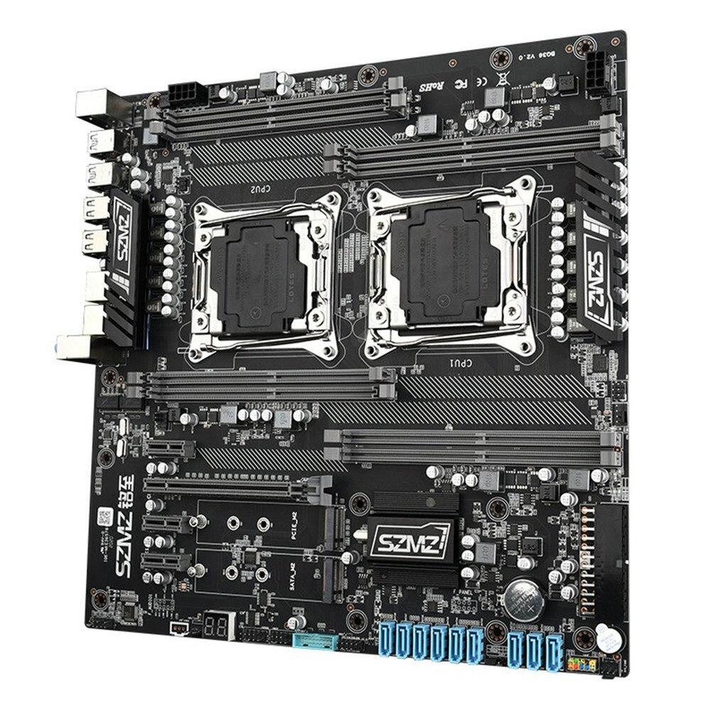 اللوحة الرئيسية X99 المزدوجة وحدة المعالجة المركزية المقبس Xeon V3/V4 8XDDR4 ما يصل إلى 256GB المزدوج جيجابت إيثرنت VGA USB 3.0 SATA 3.0 ALC662 5.1 قناة