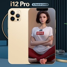 i12 Pro Newest Global Version 5G 6.7 Inch 6800mAh Big Battery 10 Core 8+256GB 16+32MP Dual Card Andr