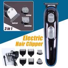 3 in 1 Electric Hair Clipper Oil Head Clipper Shaving Head Engraving Bald Hair Clipper Mens Beard Trimming Angle