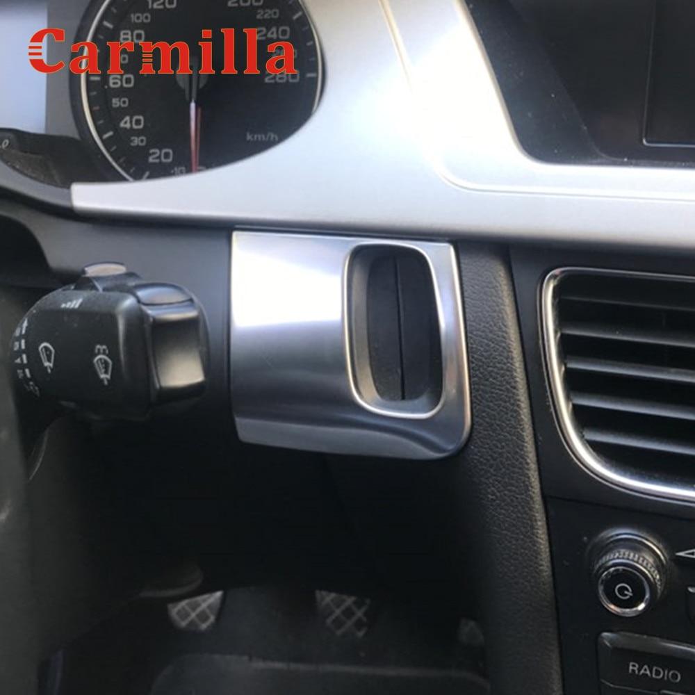 Cubierta de Marco decorativa con diseño de cerradura para coche, tira de pegatinas de acero inoxidable para Audi A4 B8 A5 8T S5 accesorios de Interior para automóviles