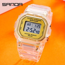 SANDA Hot Sell G style Sport Watch Multi-function Mens Waterproof Wrist Watch Fitness Digital Ms Watch Alarm Timer Clock