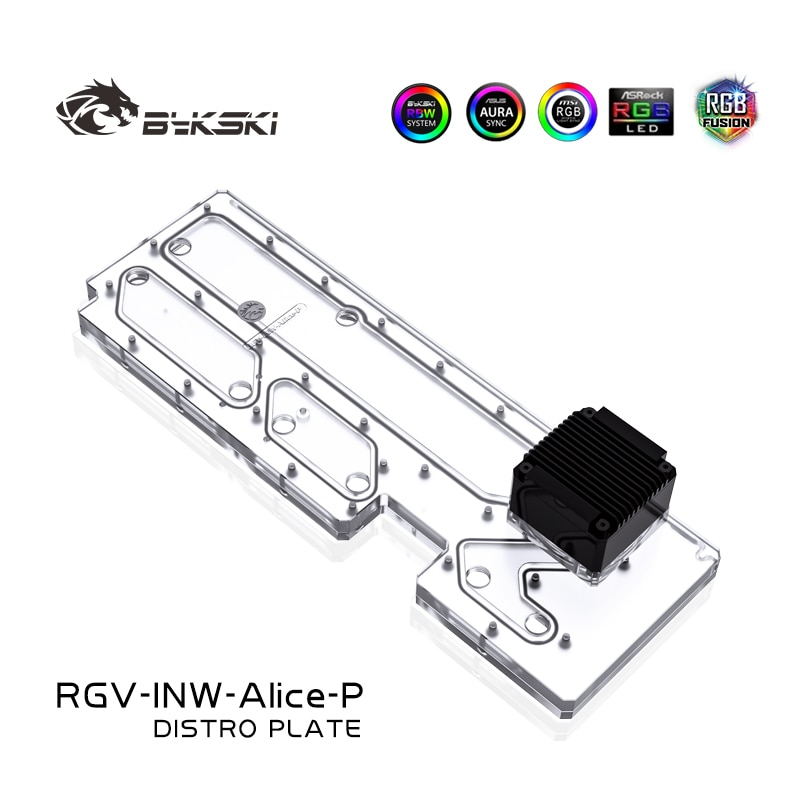 BYKSKI الاكريليك استخدام خزان ل في فوز أليس وحدة معالجة خارجية للحاسوب/3PIN 5 فولت D-RGB/كومبو DDC مضخة كول قناة المياه الحل