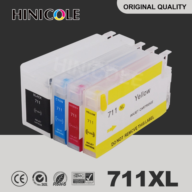 Hinicole الحبر خرطوشة 711 XL ل HP ديزاين T120 24 T120 610 T520 24 T520 36 T520 610 T520 914 عبوة خراطيش