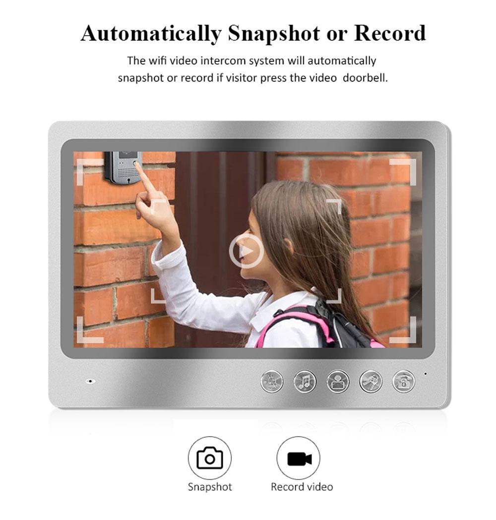 9 Inch Screen Intercom System Villa Video Intercom System APP WIFI Door bell with RFID Keyfobs Door Bell Camera Unlock Control enlarge