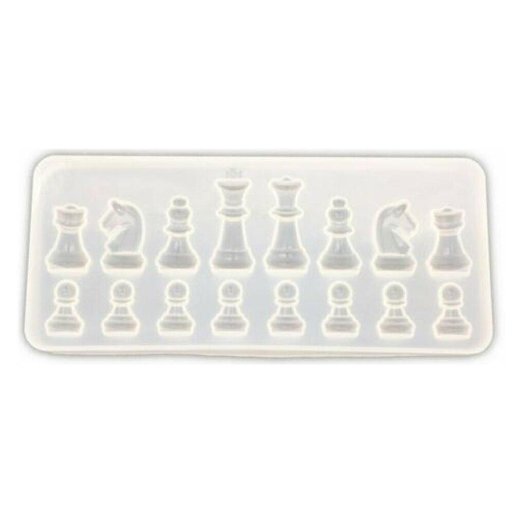 Ajedrez de la resina de molde de silicona para manualidades epoxi de cristal de ajedrez DIY joyería hecha a mano