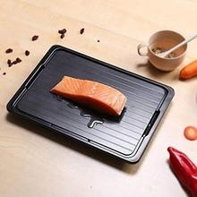 تذويب صينية تجميد الطعام ذوبان لوحة ل سريع سريع سريع اللحوم إزالة الجليد ، الدجاج سريع إزالة الجليد صينية مع منظف تجميد