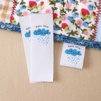 custom fabric labels 100 cotton colorfast washable uncut for handmade items crafts and giftsmd2058