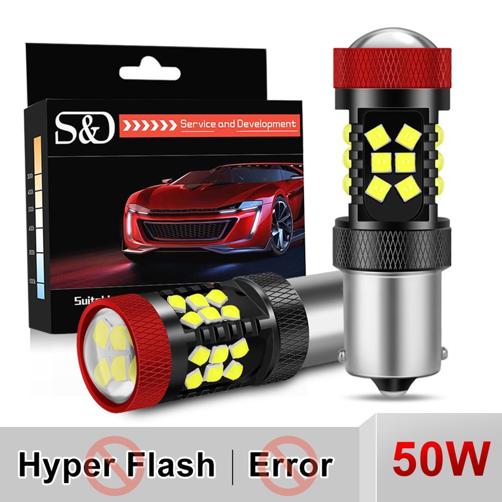 2Pcs P21W LED Canbus Py21W BAU15S BA15S BAY15D 1156 P21/5W Led-lampe Keine Hyperflash R5W Drehen signal Auto Lichter Lampe Weiß Gelb