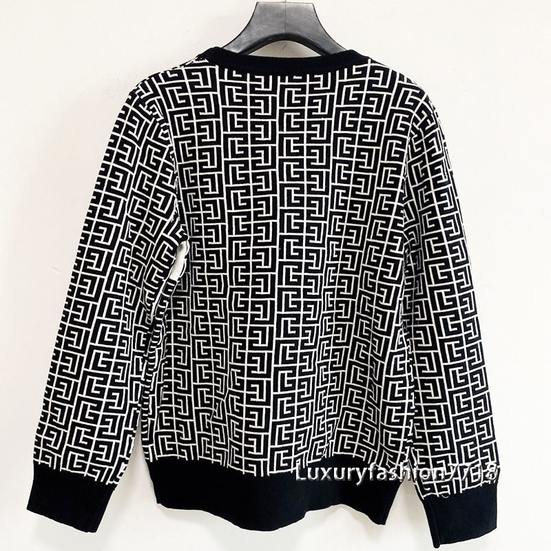 Luxury design high end clothes sweater autumn 2021 fashion Crew neck long sleeve Letter jacquard branded woman sweaters pullover enlarge