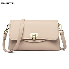 High Quality Solid Color Soft Waterproof Leather Shoulder Bags for Women 2021 Ladies Small Square Ba