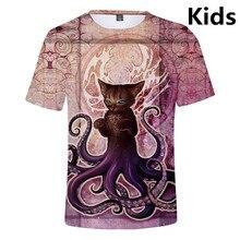 3 To 14 Years Kids T Shirt 3D Octopus T-shirt Boys Girls Short Sleeve Cartoon Tshirt Fashion Harajuku T Shirts Tops Teen clothes