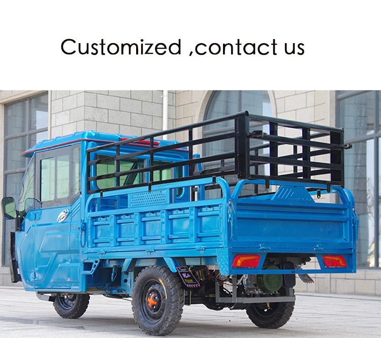 Three-wheeled truck heavy-duty household small electric three-wheeled battery car agricultural high-power freight truck enlarge