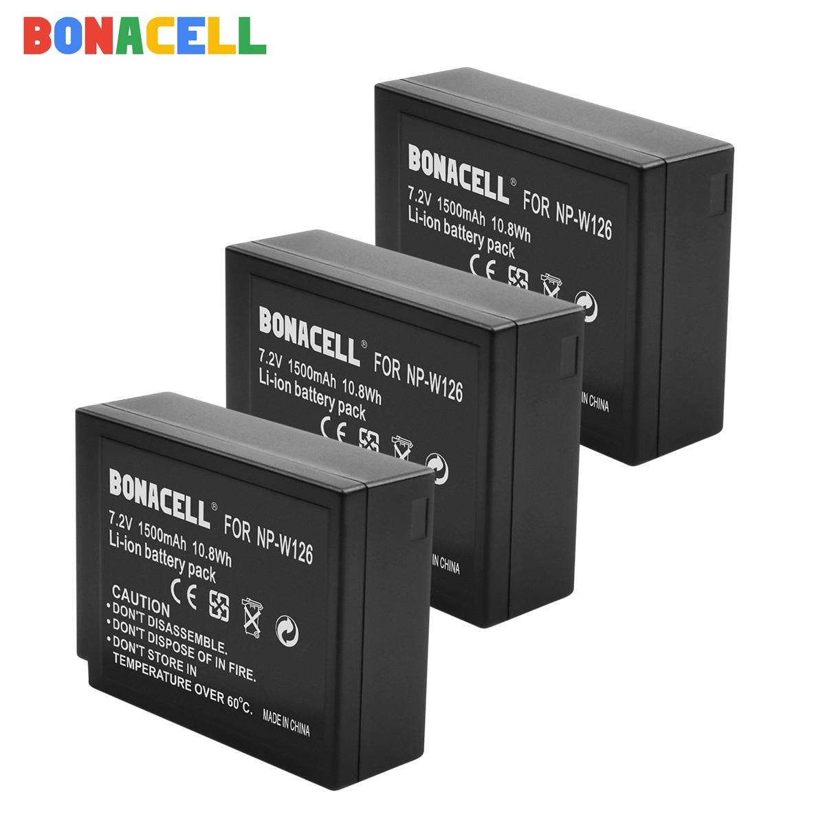 Bateria para Fujifilm X-M1 X-A1 Bonacell Para Fujifilm NP-W126 NP-W126S X-T1 X-E1 X-Pro2 NP W126