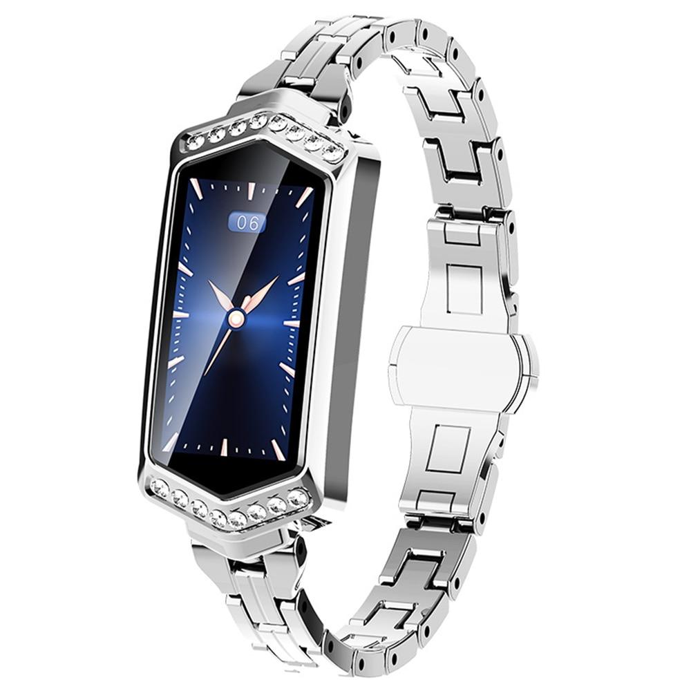 Модные умные часы с кристаллами, женские умные часы с несколькими спортивными режимами, фитнес-браслет, подарок для жены, напоминание о физи...