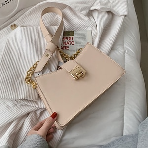Niche Design Popular Handbags 2021 New Fashion High-end Western Style All-match Shoulder Bag Square Bag Underarm Bag Width: 26cm