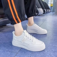 womens spring shoes woman sneakers platform white flat shoes lace up ladies fashion 2021 female footwear casual students shoes