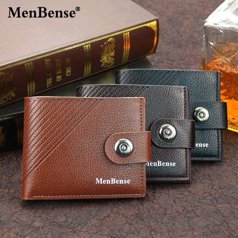 Carteira de Couro de Luxo Titular do Cartão de Crédito Bolsa de Dinheiro Homens Sólida Mini Carteira Curto Bolsas Embreagem Moeda Masculino Negócios