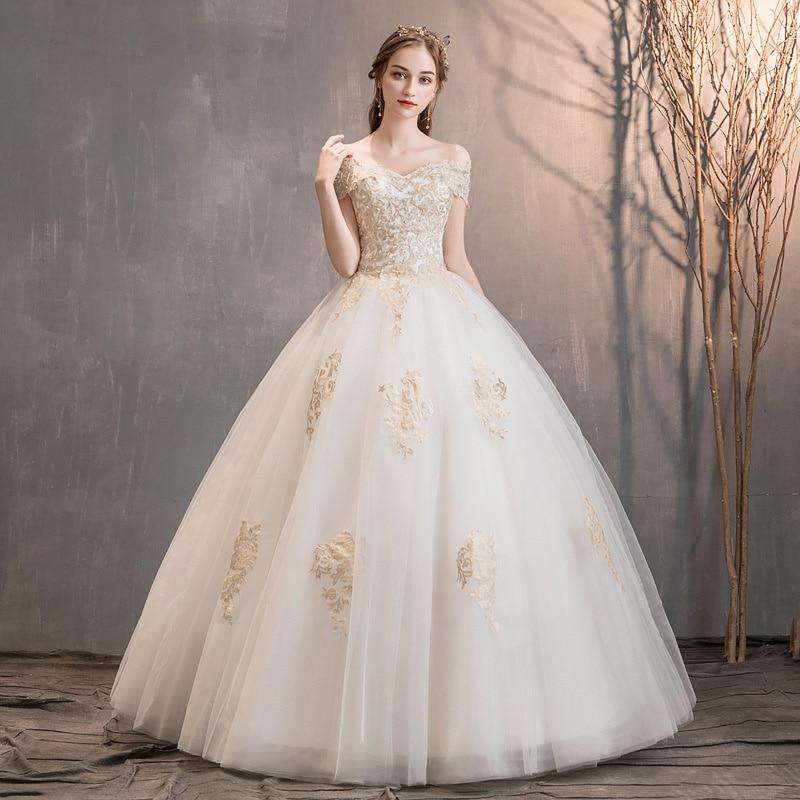 Review Wedding Dress 2021 New Wedding Bride Shoulder Length Lace Wedding Dress With Slim And Elegant Waist