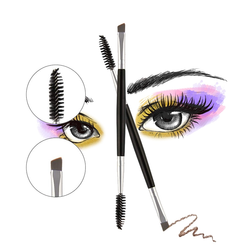 make up for ever double ended shader and smudger eye brush 204 1pcs Eyelash Eyebrow Makeup Brush Tool Double-ended Lash Eyebrow Brushes Eye Lashes Make Up Beauty Cosmetics Tools for Women