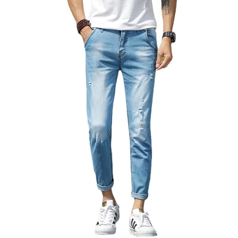 Мужские джинсы, мужские джинсы, Мужские штаны, корейские джинсы, брюки, джинсы, мужские джинсы, джинсы, брюки, мужские синие повседневные 2021 к...