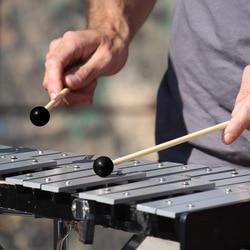 1 par de borracha mallet percussão bell maletes glockenspiel varas com alça madeira thj99