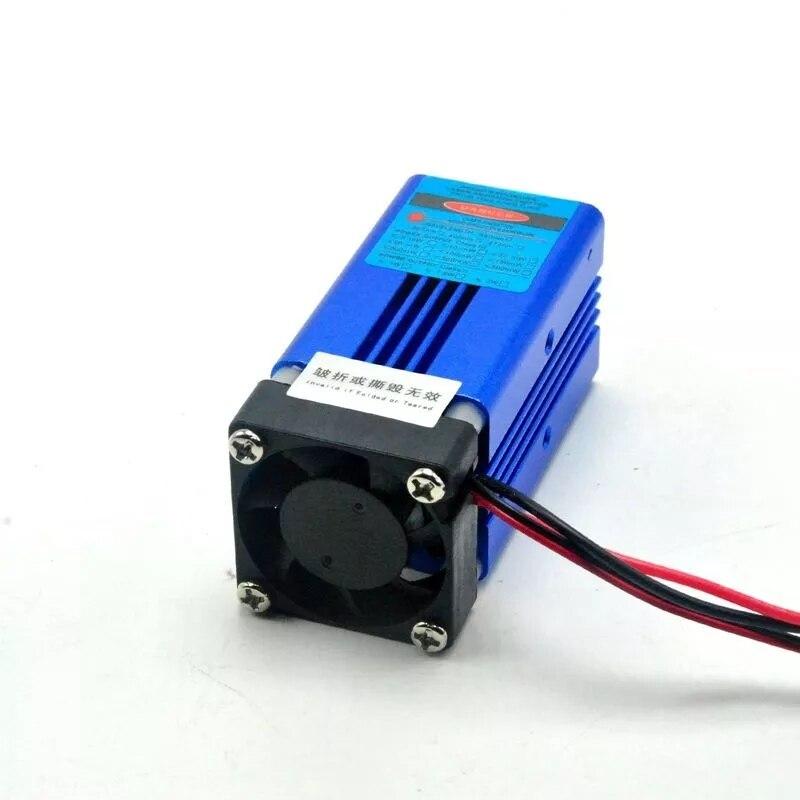 405 нм 300 мВт фиолетовый синий лазер точка модуль W% 2F TTL +% 26 вентилятор охлаждение сцена освещение 12В