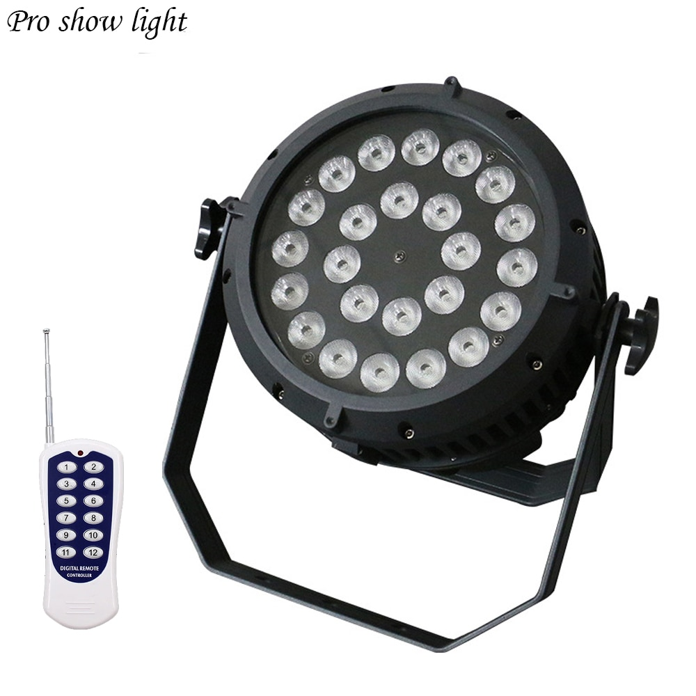 Remote Control 24X10W RGBW 4IN1 LED Par Light Outdoor IP65 Waterproof DMX Effect Stage Lights Professional DJ Party Show Light
