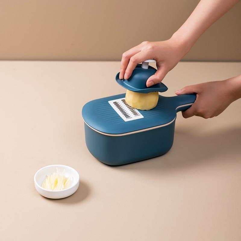 8PCS PP Edelstahl Gemüse Cutter Mandoline Slicer Peeler Lagerung Korb Reibe Küche Werkzeug Für Kartoffel Karotte Käse