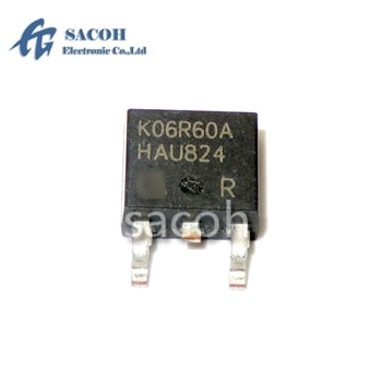 New original 10PCS/Lot IKD06N60RA K06R60A or IKD06N60R K06R60 IKD06N60RF K06R60F IKD06N60RFA K06DRFA TO-252 6A 600V Power IGBT
