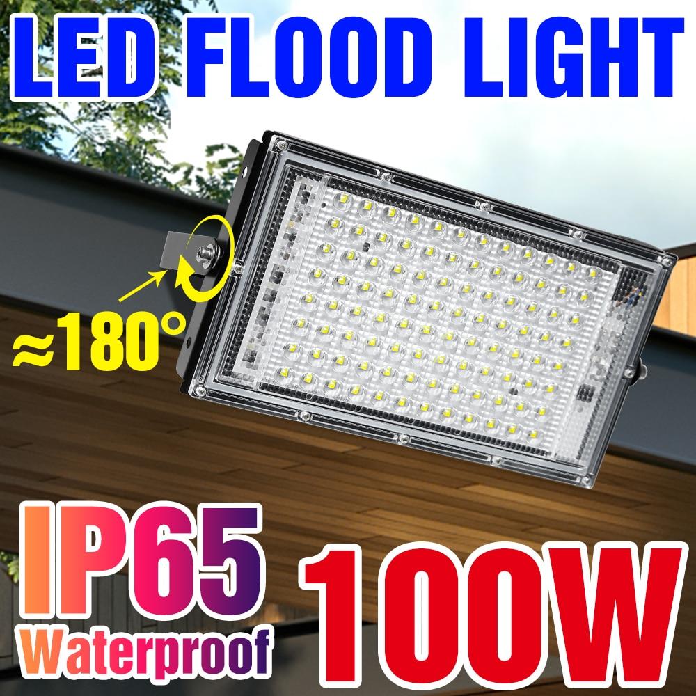 Уличный прожектор, светодиодный настенный светильник 220 В, Точечный светильник s IP65, водонепроницаемый уличный светильник 2835, Светодиодный ...